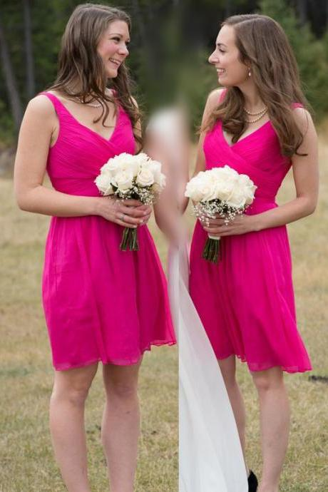 Bd204 Brief Bridesmaid Dress,Chiffon Bridesmaid Dress,A-Line Bridesmaid Dress,Short Wedding Party Dress