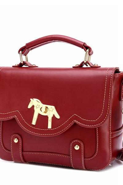 Retro Buckle Horse Shoulder Bag