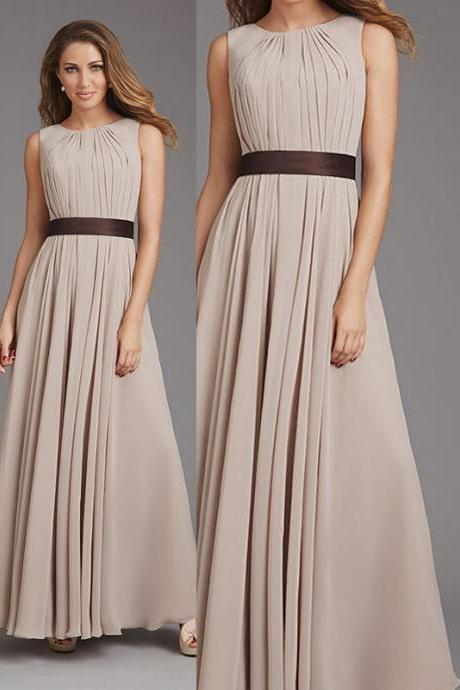Bd233 A-Line Bridesmaid Dress,Pleat Bridesmaid Dress,Long Bridesmaid Dress