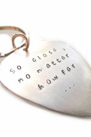 Keychain Metal Aluminium with your text!