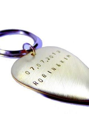 Keychain Metal Brass with your text!