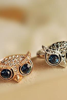 Super Cute Bling Owl Ring in Rose Gold/Golden/Silver Colors for Girls