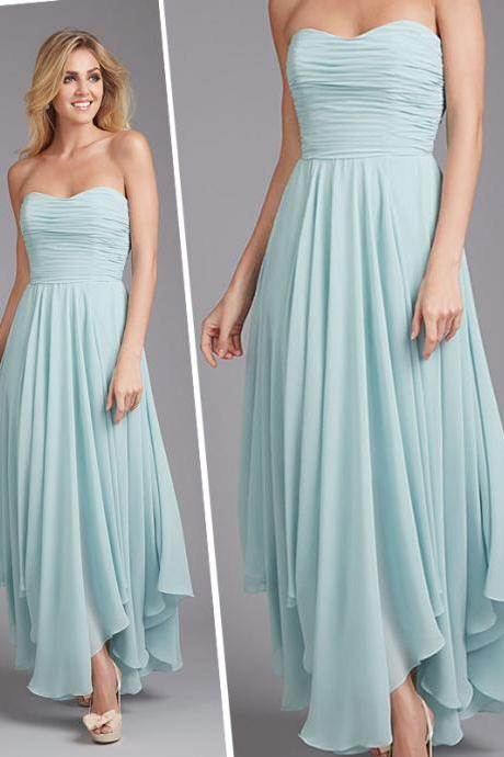 Bd230 Brief Bridesmaid Dress,Chiffon Bridesmaid Dress,Strapless Bridesmaid Dress