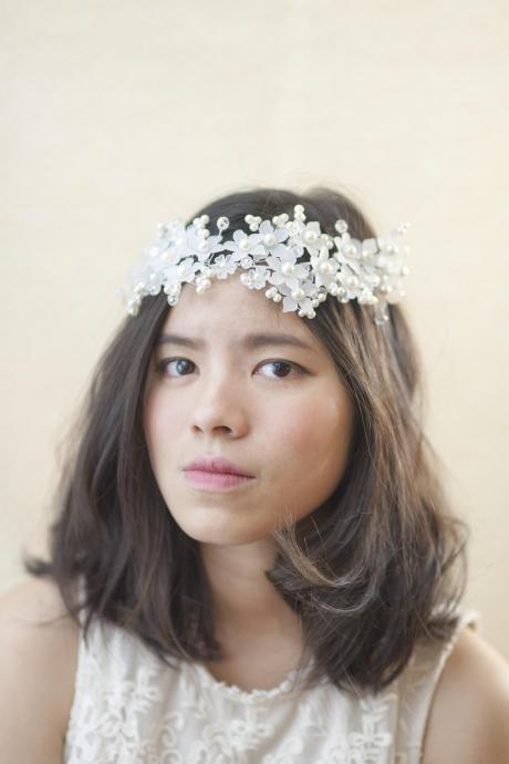 Flower Wedding Headpiece - Unique Flower Bridal Headpiece