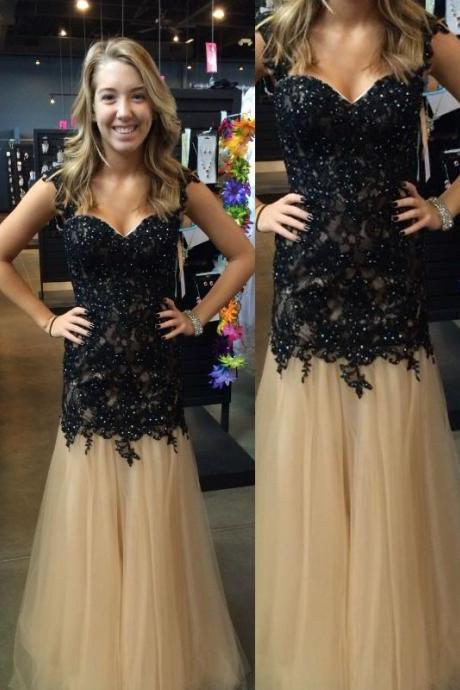 Pd238 Appliques Prom Dresses, Discount Prom Dresses, Long Prom Dresses, Sweetheart Prom Dresses, Dresses For Prom
