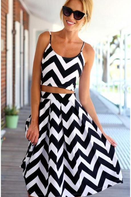 ON SALE CUTE TWO PIECE HOT DRESS