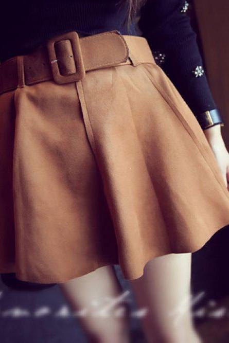 Adorable Pleated Skirt In 3 Colors