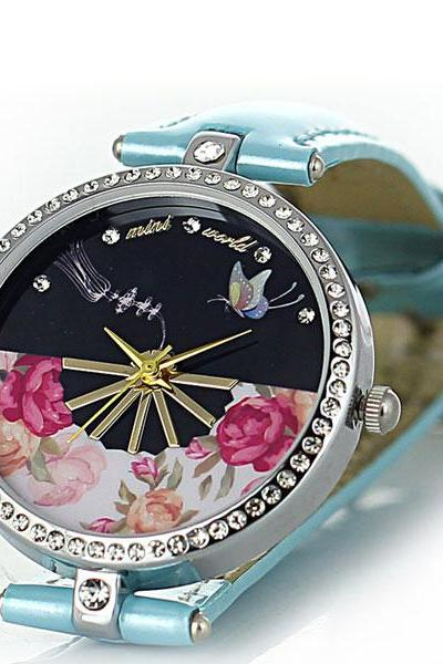 Butterfly Rhinestone Watch