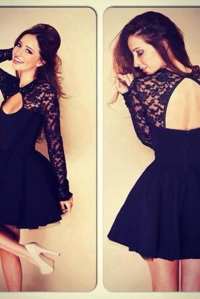 Hot sale sexy fashion Black Lace Dress for women