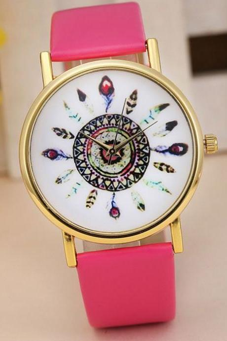 Indian Vintage hot pink Style Girl Watch