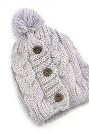 Winter Fashion white Cotton Cute Girl Hat