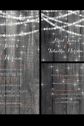 50 custom wedding invitations, personalzied wedding invitations