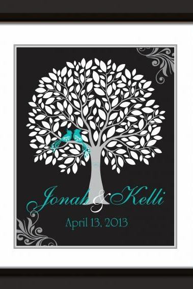Wedding Signature Tree 18x24 100 signatures wedding guest book alternative . wedding tree, wedding guestbook