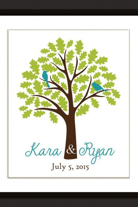 Wedding Signature Tree 24x36 200 signatures wedding guest book alternative . wedding tree, wedding guestbook