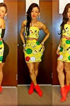 Emoji Smileys Two Piece Dress