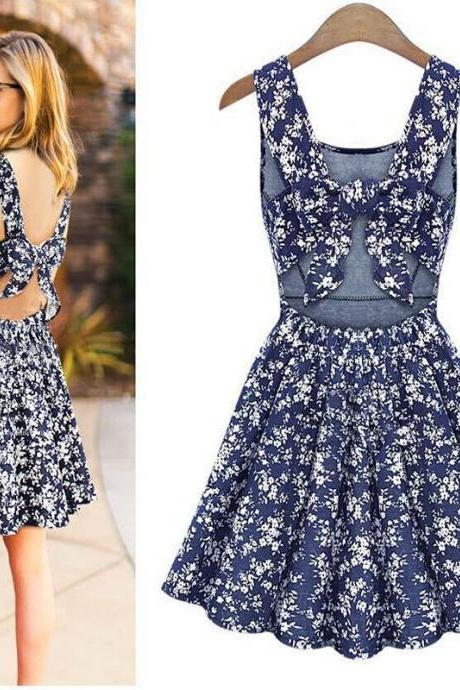 Printed Vest Halter Dress