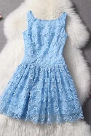 Fashion Sexy Slim Lace Embroidered Dress