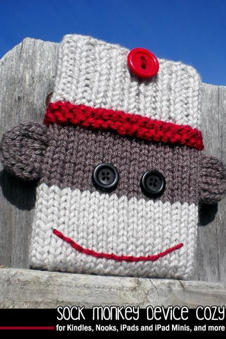 Sock Monkey Device Cozy Knitting Pattern