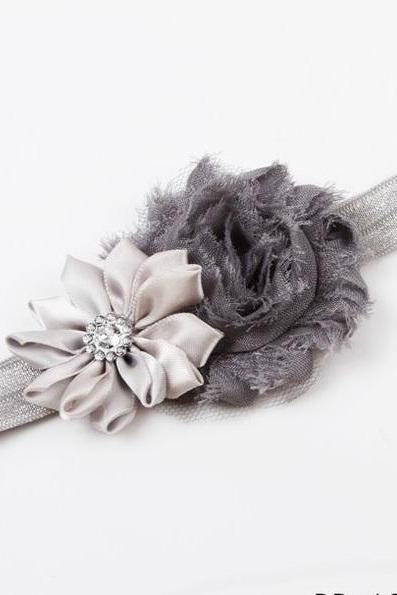 Floral Girl Fashion gray baby cute Headband