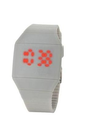 Rubber digital unisex casual everyday gray watch