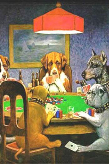 Dogs PLaying Poker Cross Stitch Pattern***L@@K***