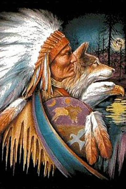 Native American WoLf EagLe Cross Stitch Pattern***L@@K***