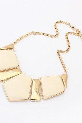 Fashion Gemstone beige Woman Necklace