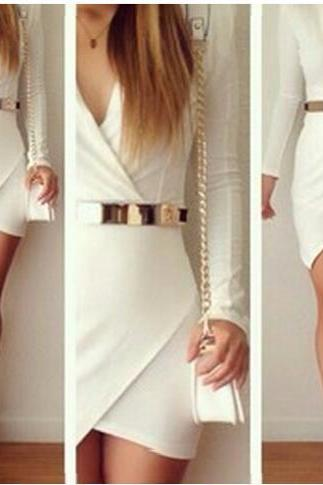 White Stitching Dress