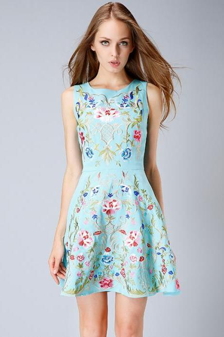Sexy Fashion New Flowers Big Skirt Dress