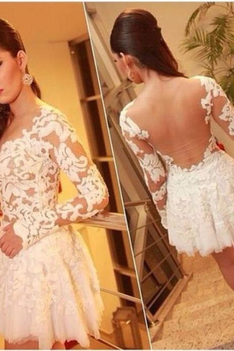 New Fashion Sexy Lace Backless Dress Lace Dress