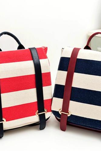 Cute Stripes Backpack In 3 Colors