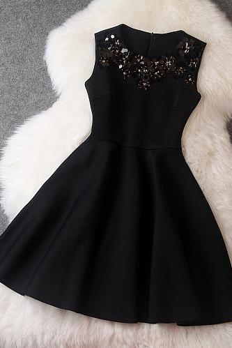 Beaded Dress In Black