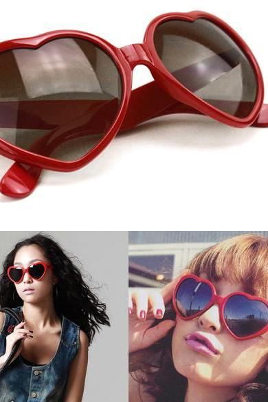 Heart Shape Unisex Sunglasses Party Glasses