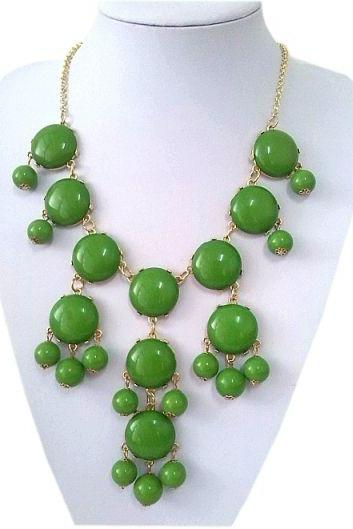 Casual teen cool green beaded young girl necklace