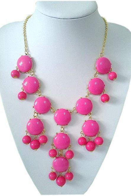 Casual teen cool rose beaded young girl necklace