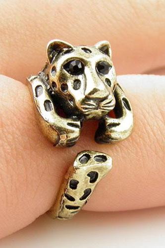 Gold Leopard Wrap Ring