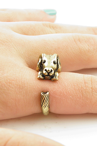 Gold Baby Ram Wrap ring