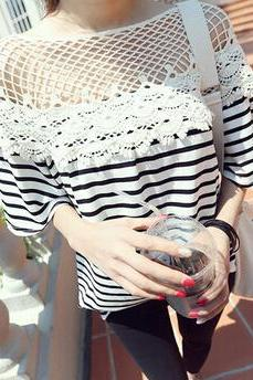 Fashion Stripe Loose T-Shirt