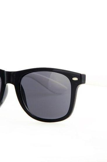 White frame Wayfarer Fashion Unisex Sunglasses