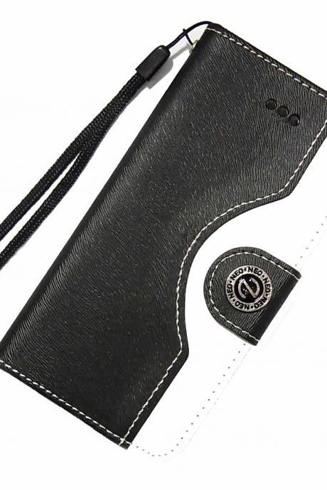 Badge Samsung Galaxy S3 S4 Wallet Leather Case, Badge Samsung Galaxy S5 leather Wallet Case Cover,Samsung Galaxy Note 2 leather wallet case, Badge Samsung N9000 Galaxy Note 3 Wallet Leather Case Black White