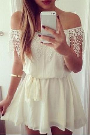 Sweet White Lace Dress