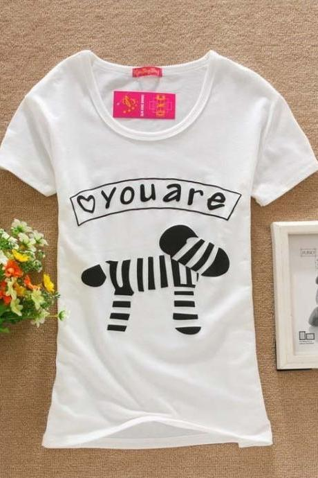 you are mine Print Love Tee Girl Top