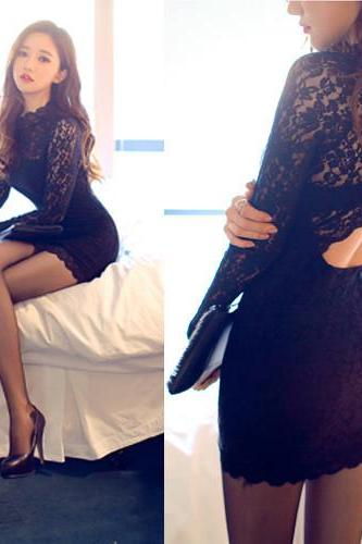 Sexy Backless Lace Dress NL2AJY50N843DA4MFORE