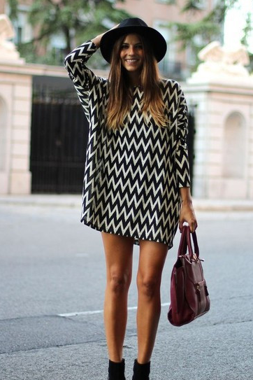 Stripe loose sexy dress