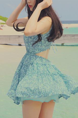 Broken Beautiful Backless Dress