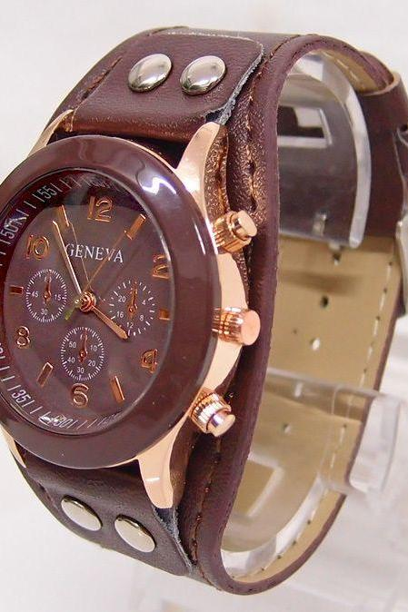 Casual School Girl brown Trendy Watch