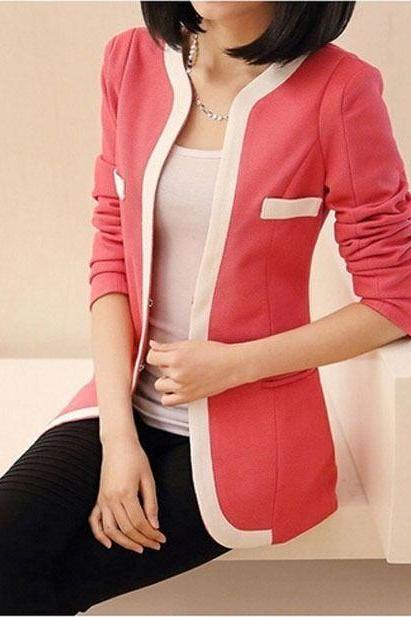 Women New 2014 Autumn Fashion Korean Style Long Sleeve Simple Blouses & Tops