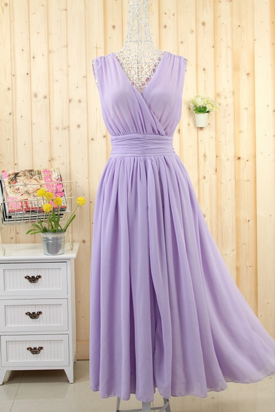 2015 Big European Yards Long Chiffon Dress Bohemian Dress--Purple