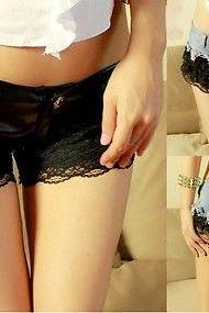 New Women's Sexy lace Low Waist Denim Jeans Shorts Short Mini Hot Pants