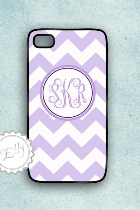 lavender chevron iphone 4s case monogram hard cover 4 or 4S